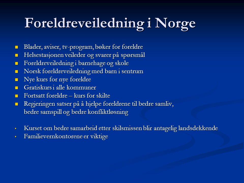 Foreldreveiledning i Norge