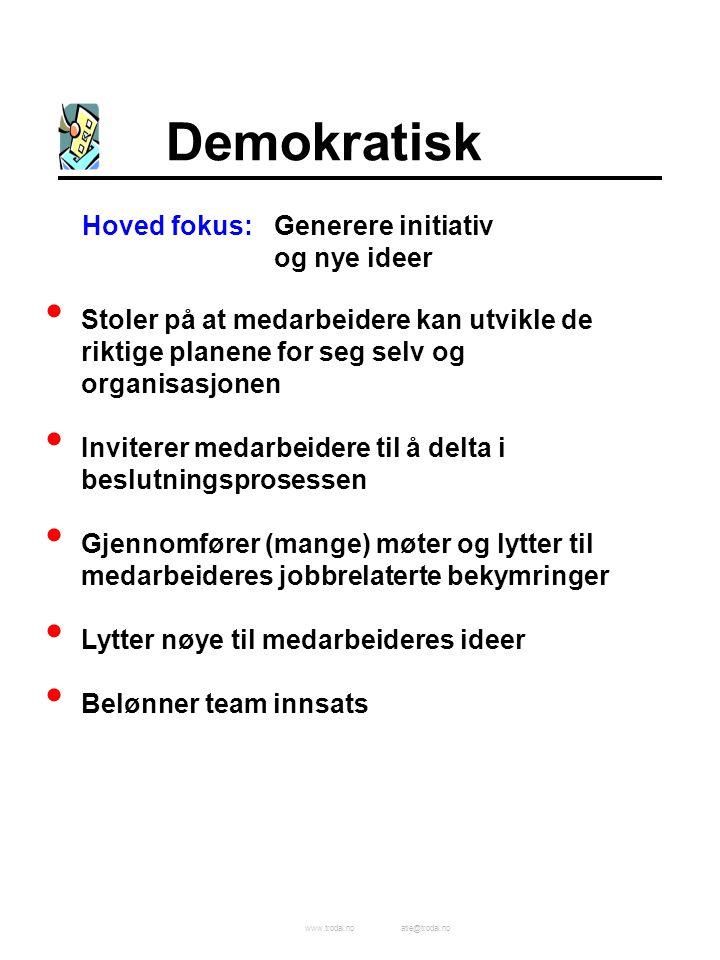 Demokratisk Hoved fokus: Generere initiativ og nye ideer