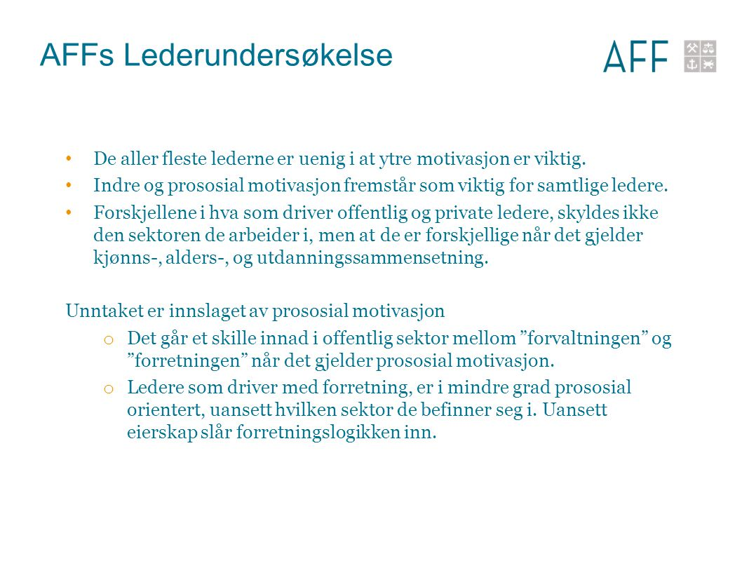AFFs Lederundersøkelse