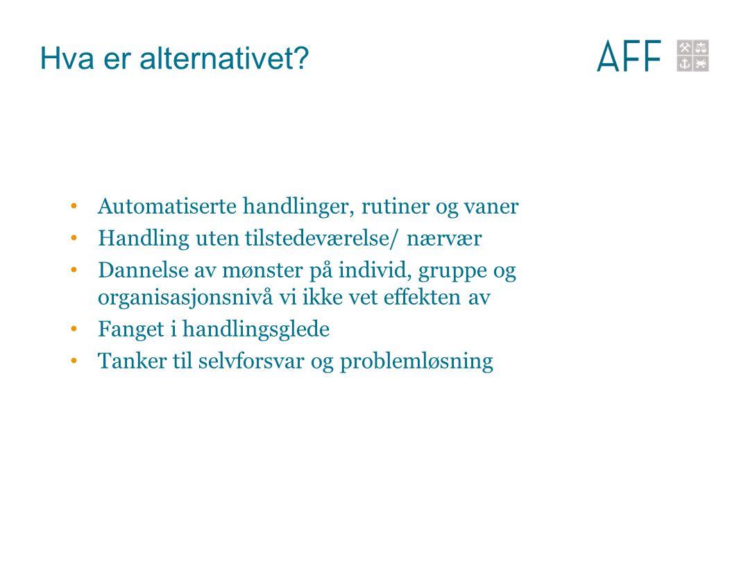 Hva er alternativet Automatiserte handlinger, rutiner og vaner