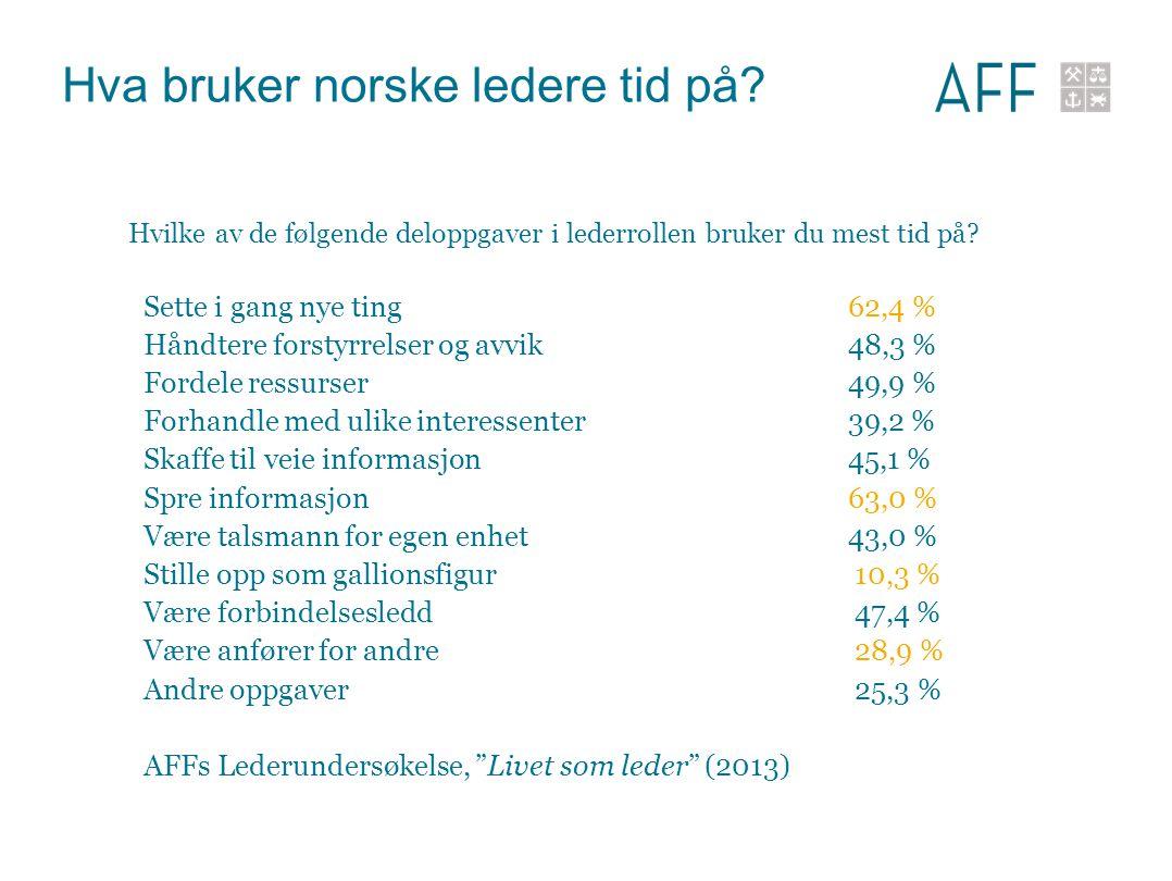 Hva bruker norske ledere tid på