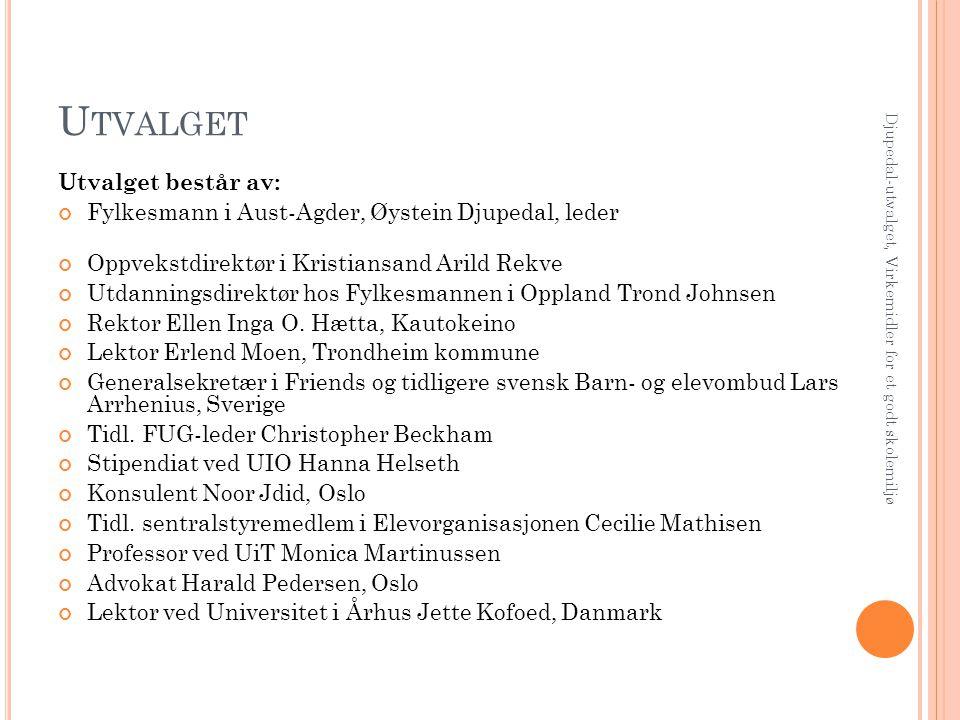 Utvalget Utvalget består av: