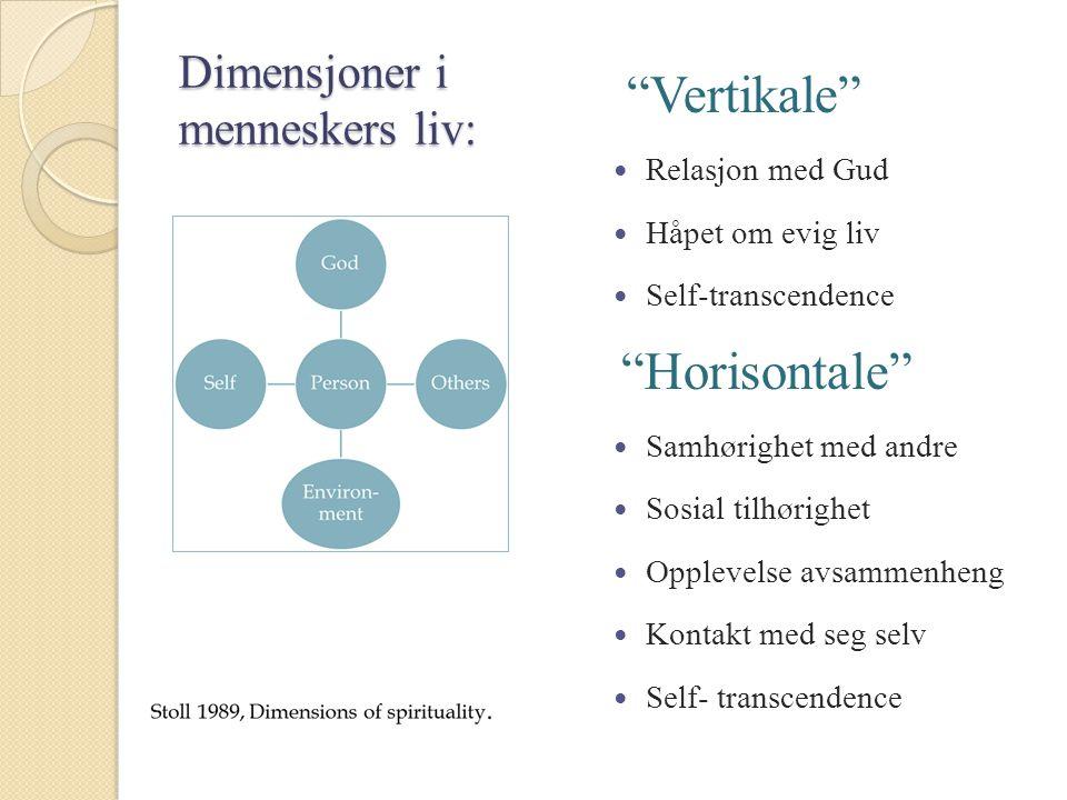 Dimensjoner i menneskers liv: