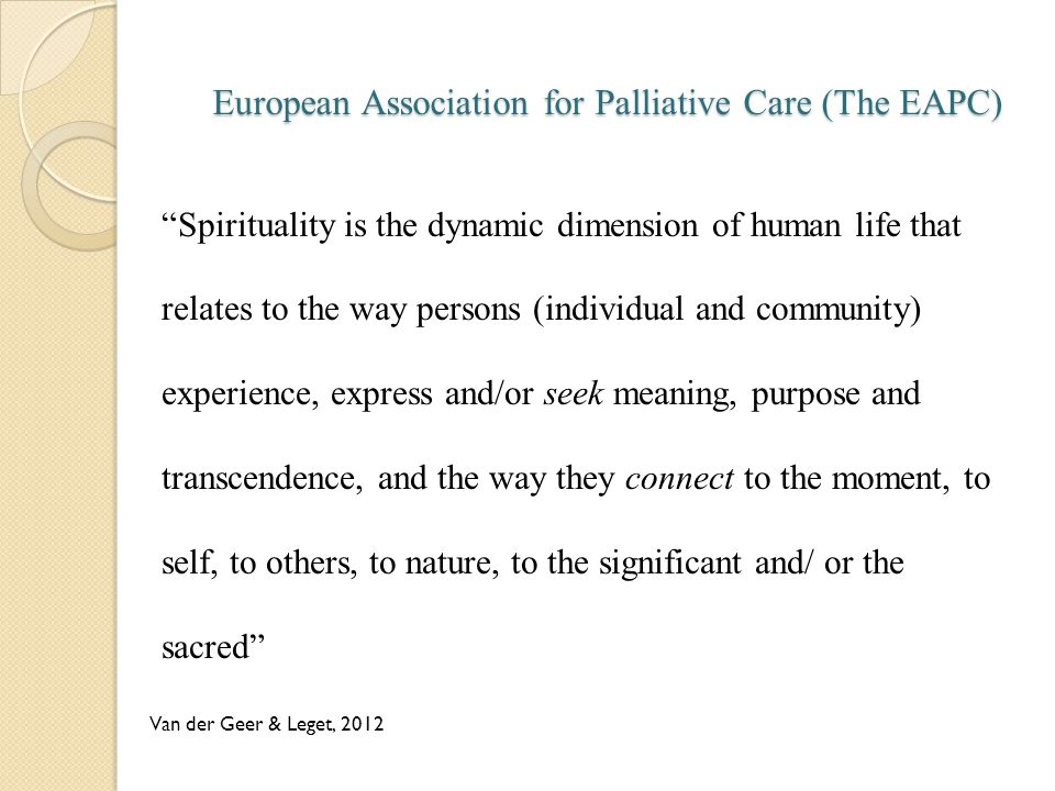 European Association for Palliative Care (The EAPC)