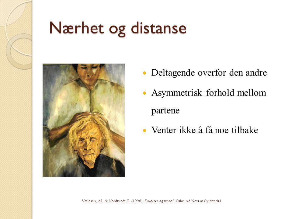 Nærhet og distanse Deltagende overfor den andre