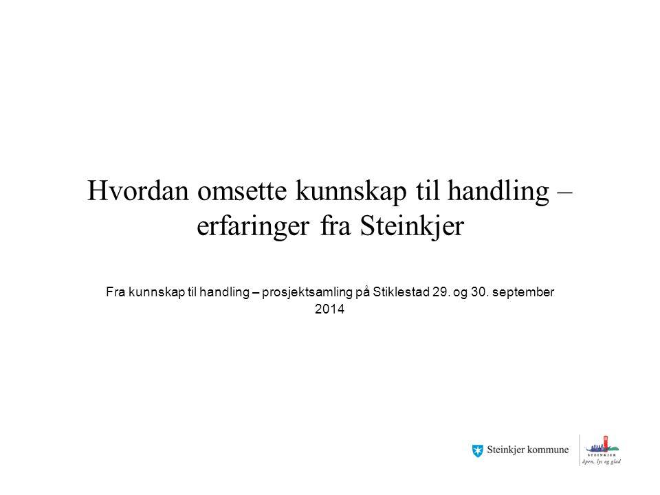 Hvordan omsette kunnskap til handling – erfaringer fra Steinkjer