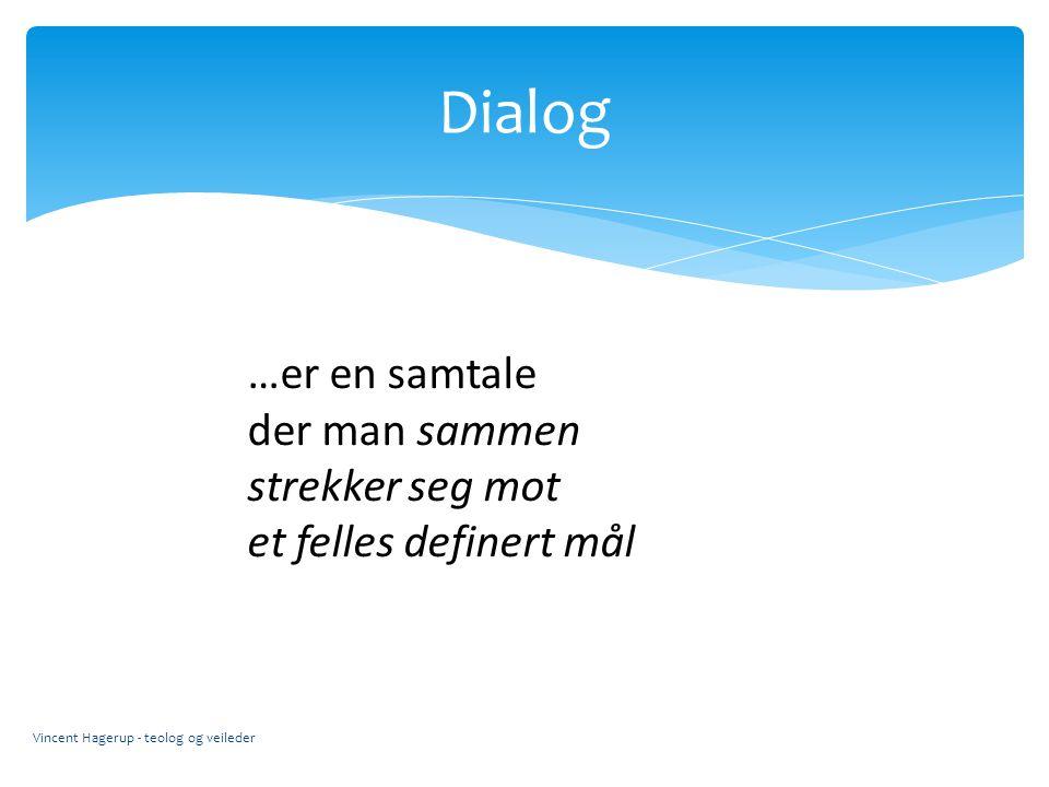 Dialog …er en samtale der man sammen strekker seg mot