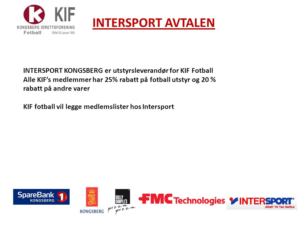 INTERSPORT AVTALEN Fotball.