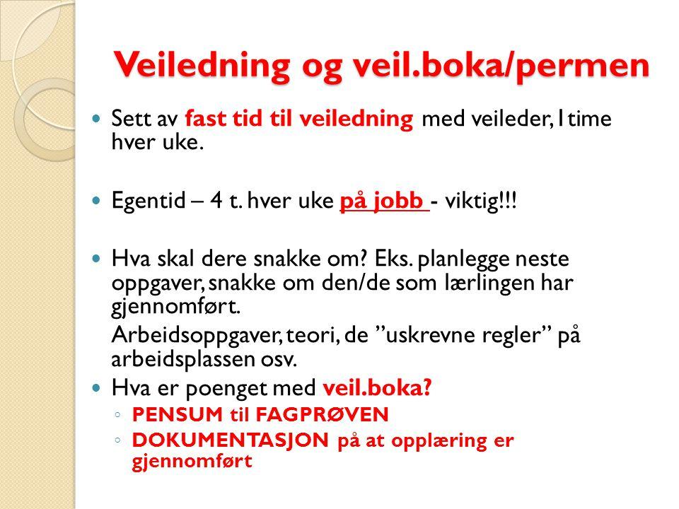 Veiledning og veil.boka/permen
