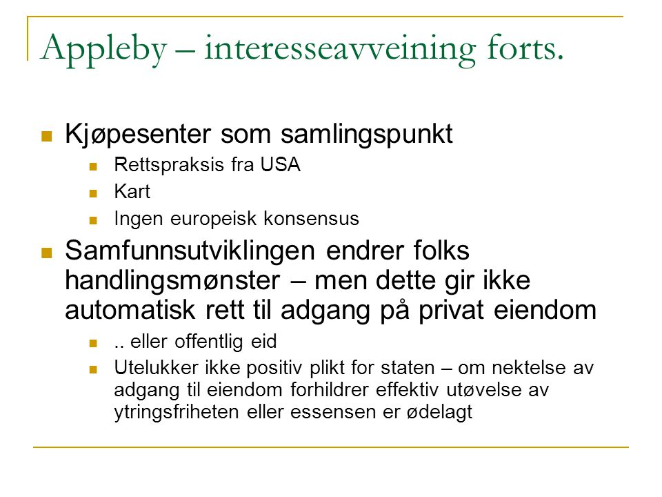 Appleby – interesseavveining forts.