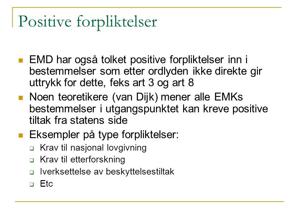 Positive forpliktelser