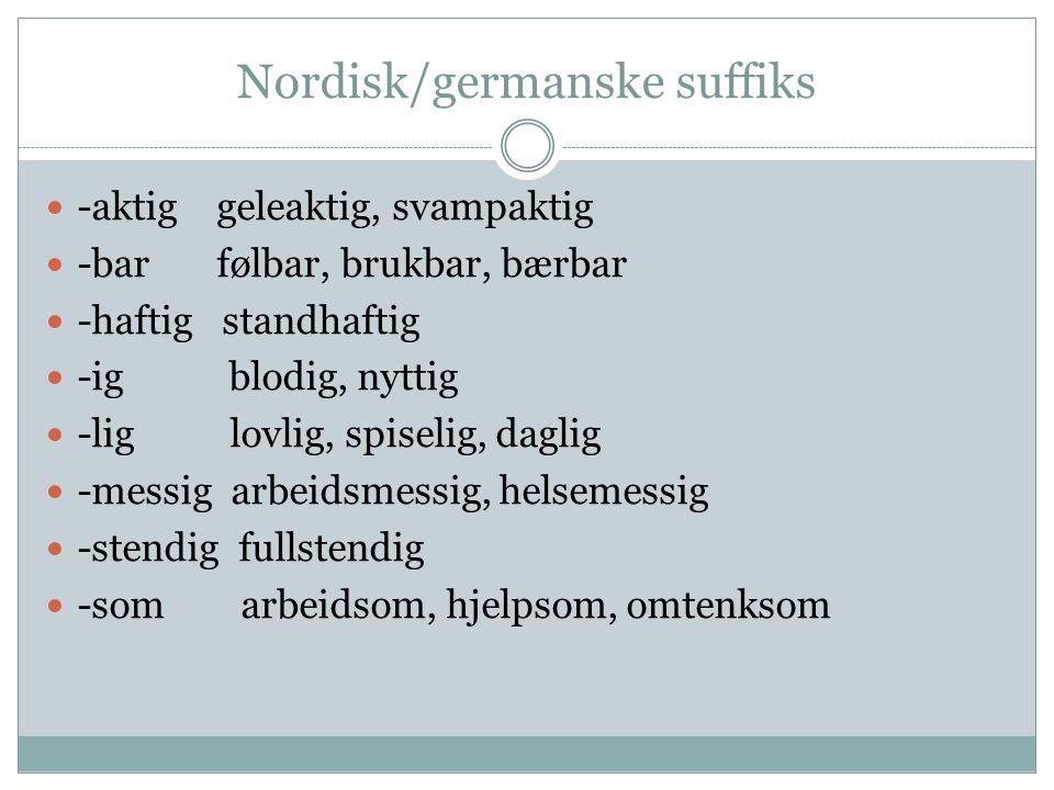 Nordisk/germanske suffiks