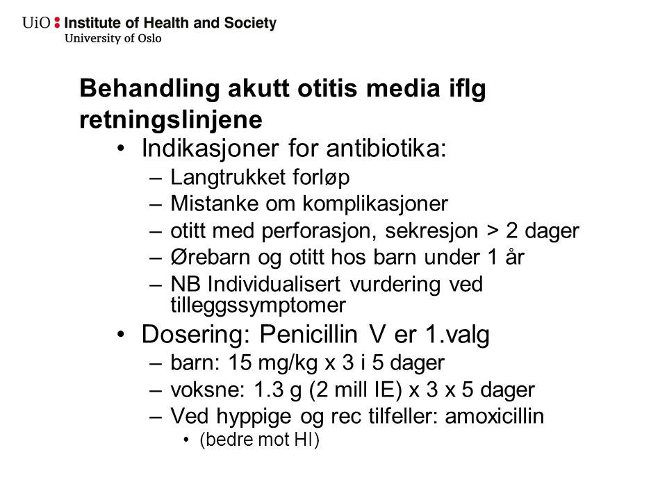Estimat for konsultasjoner i allmennpraksis med otitis media