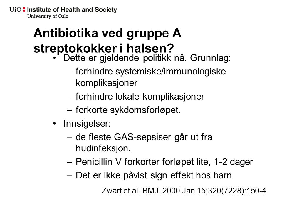 Diagnostikk ved GAS-tonsilitt