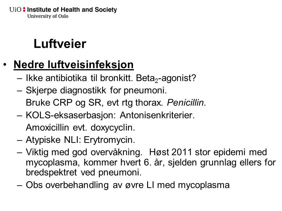 Nedre luftveisinfeksjoner akutt bronkitt eller pneumoni
