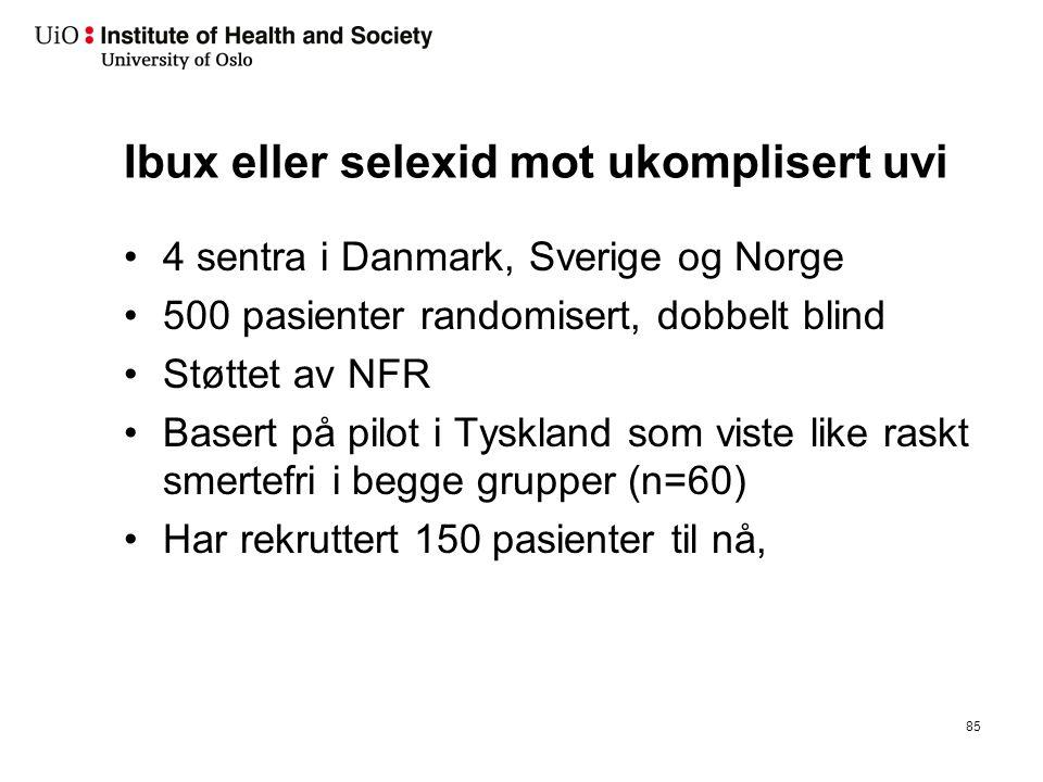 Håndtering av akutt ukomplisert urinveisinfeksjon på Oslo LV