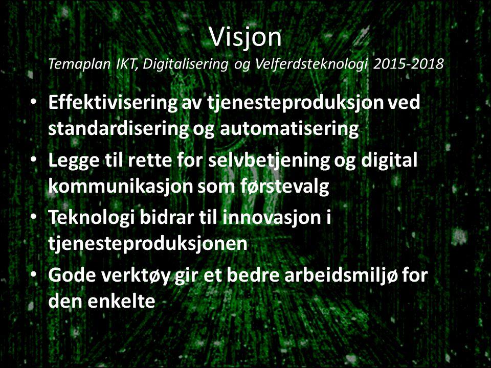 Visjon Temaplan IKT, Digitalisering og Velferdsteknologi 2015-2018
