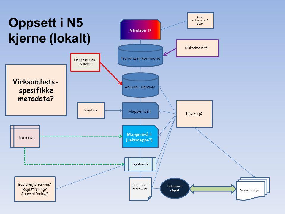 Virksomhets-spesifikke metadata