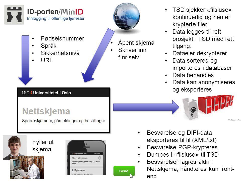 TSD sjekker «filsluse» kontinuerlig og henter krypterte filer