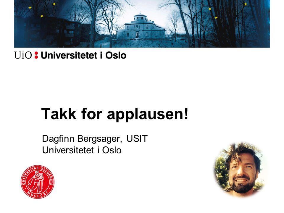Dagfinn Bergsager, USIT Universitetet i Oslo