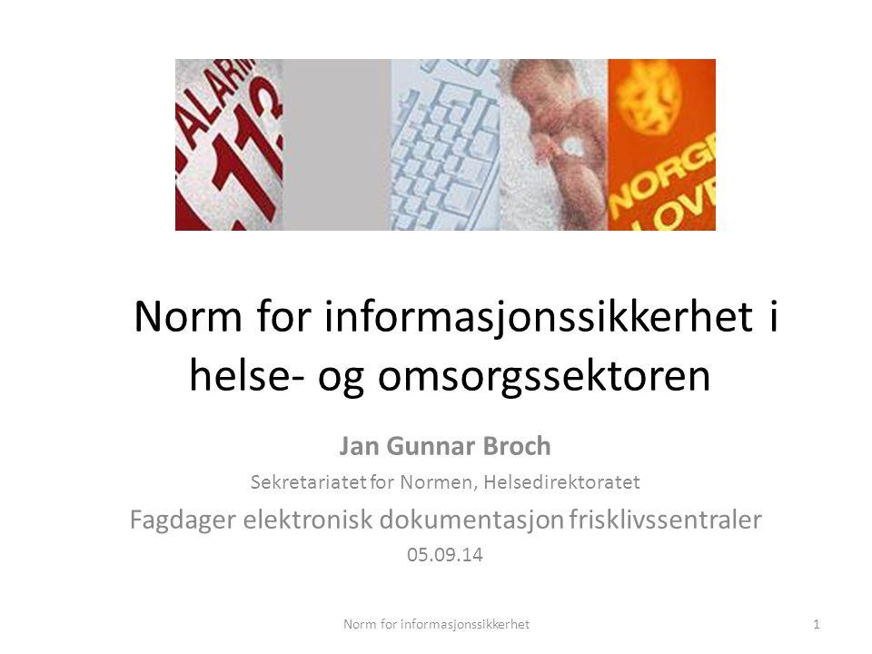 Norm for informasjonssikkerhet i helse- og omsorgssektoren