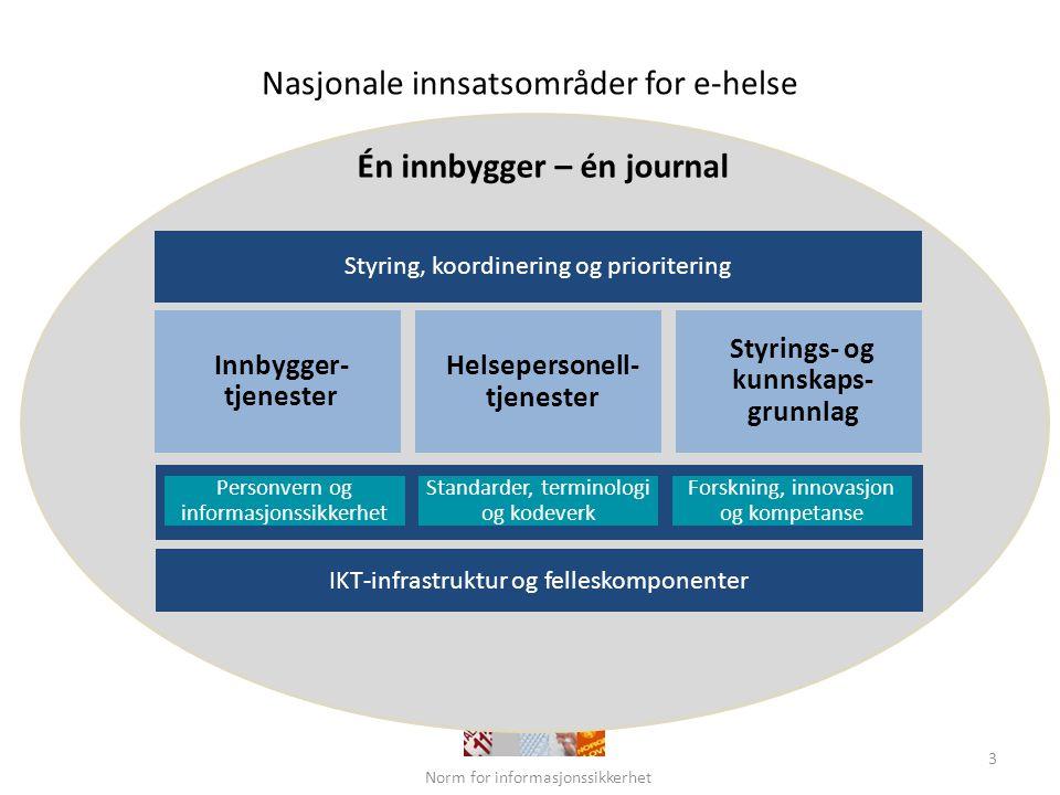 Nasjonale innsatsområder for e-helse