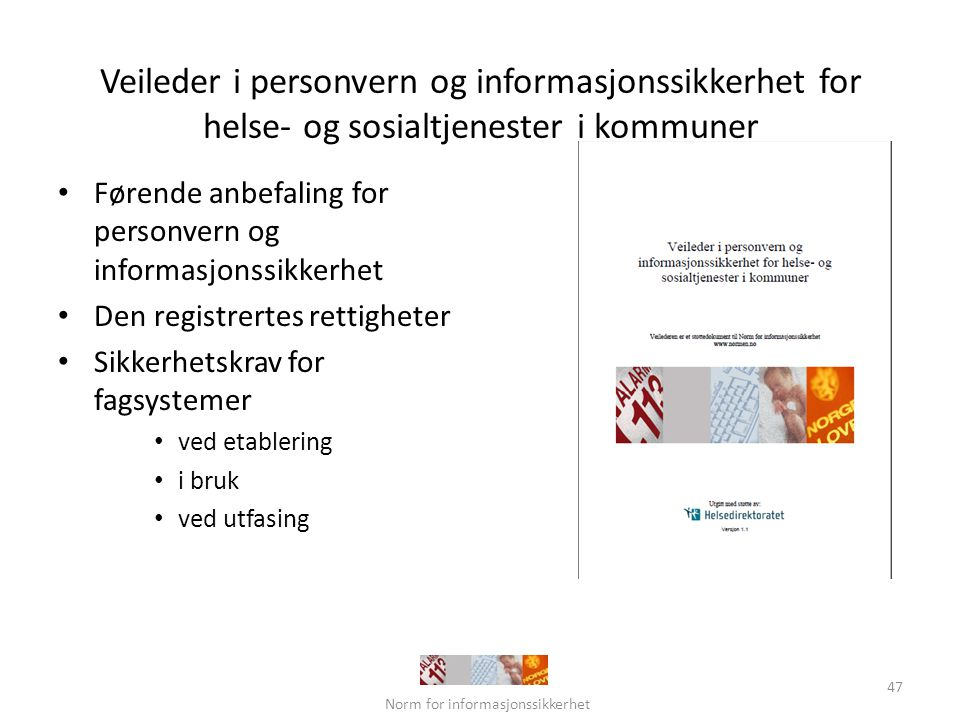 Norm for informasjonssikkerhet