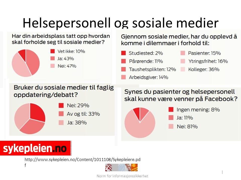 Helsepersonell og sosiale medier
