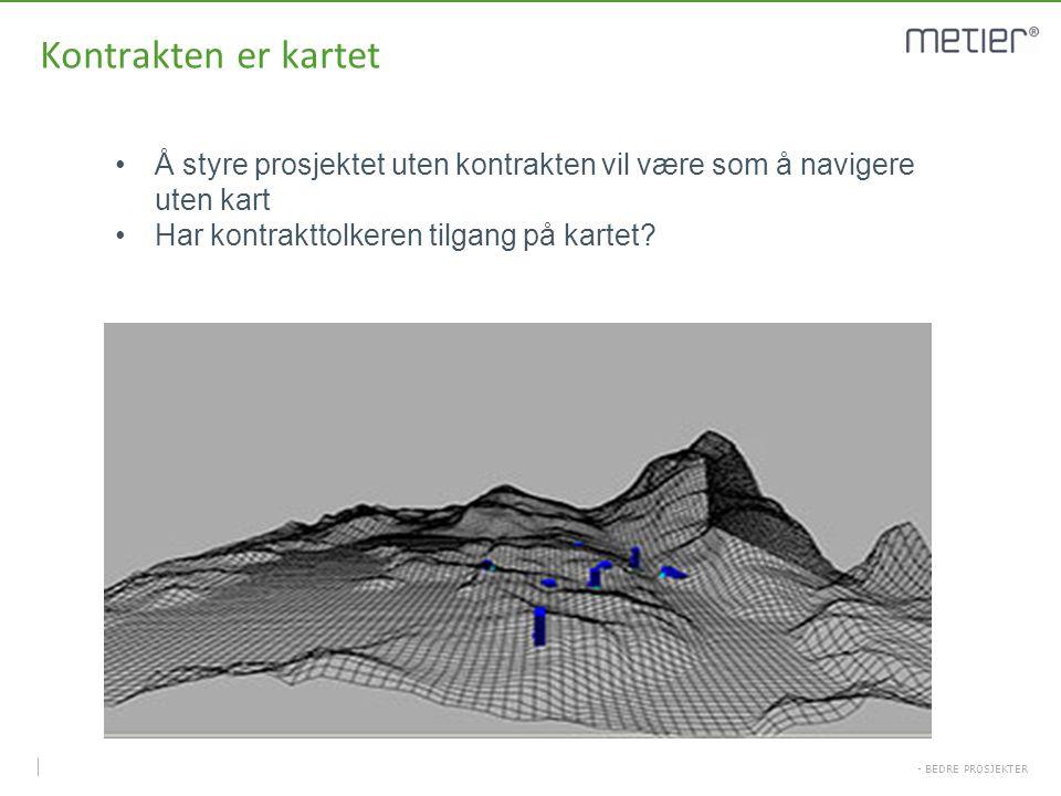 Kontrakten er kartet Å styre prosjektet uten kontrakten vil være som å navigere uten kart.