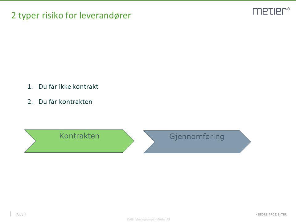2 typer risiko for leverandører
