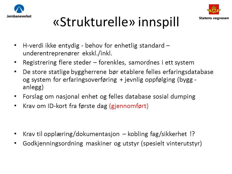«Strukturelle» innspill
