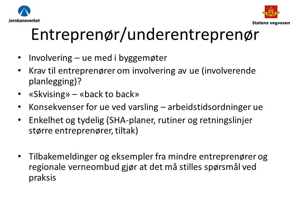 Entreprenør/underentreprenør