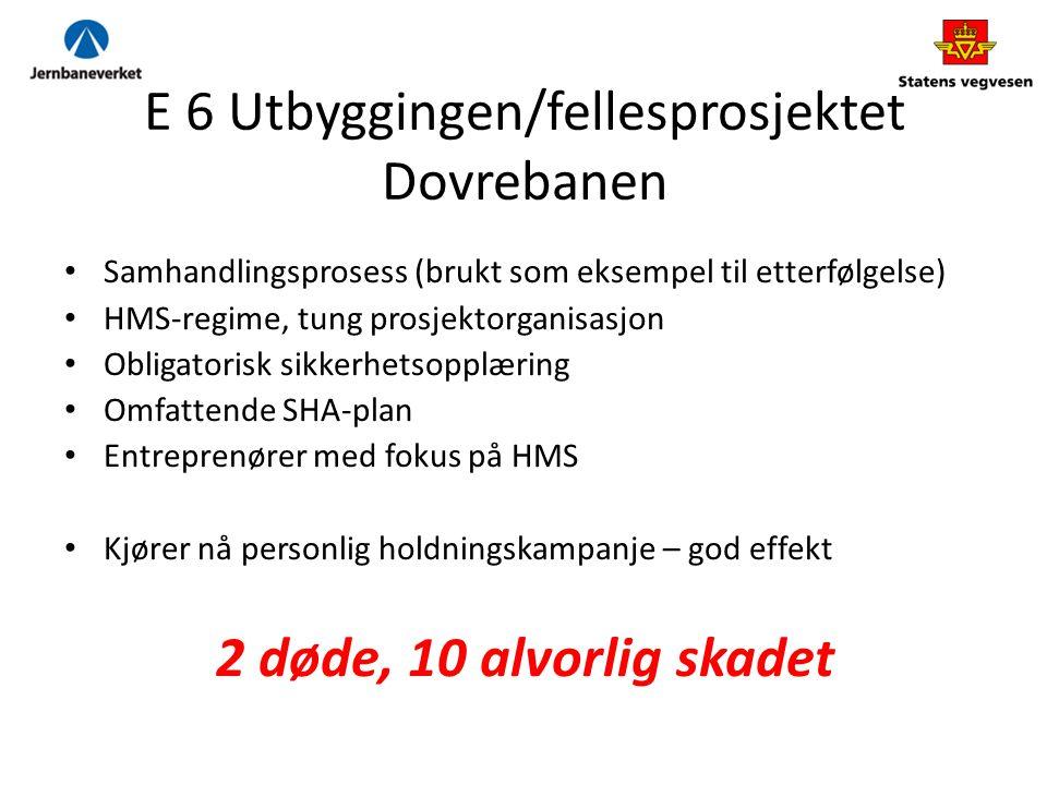 E 6 Utbyggingen/fellesprosjektet Dovrebanen