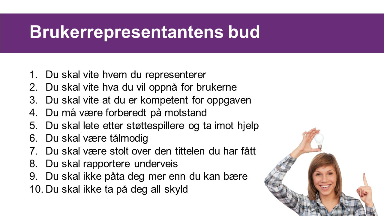 Brukerrepresentantens bud