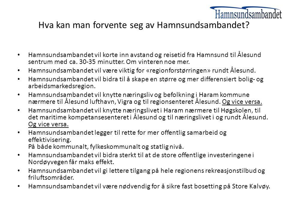 Hva kan man forvente seg av Hamnsundsambandet