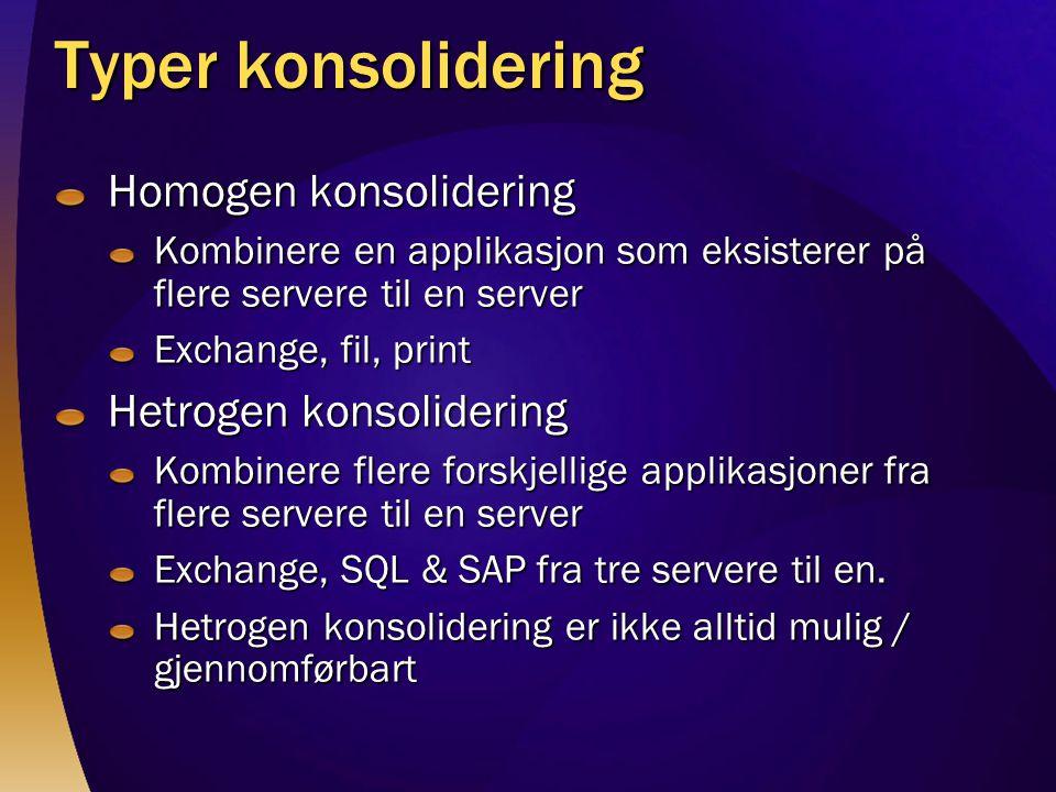 Typer konsolidering Homogen konsolidering Hetrogen konsolidering