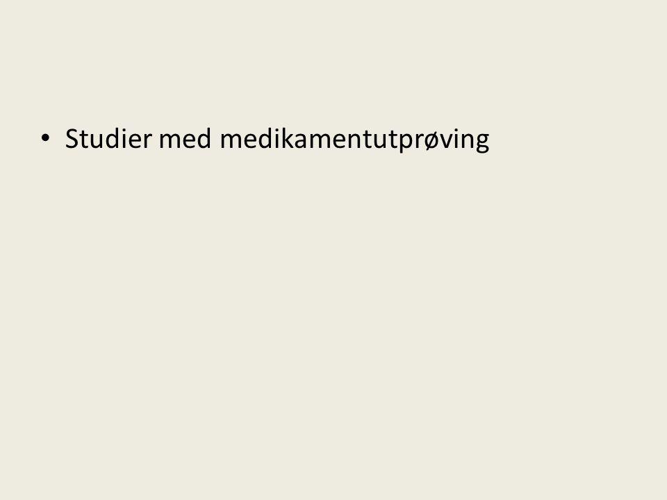 Studier med medikamentutprøving