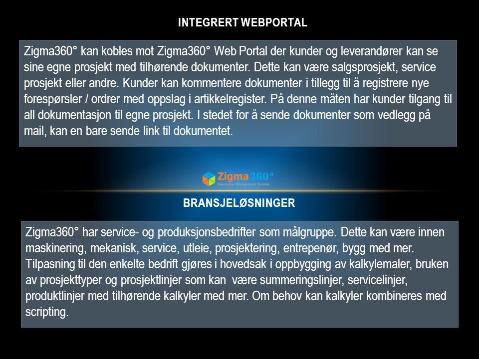 Integrert WEBPORTAL
