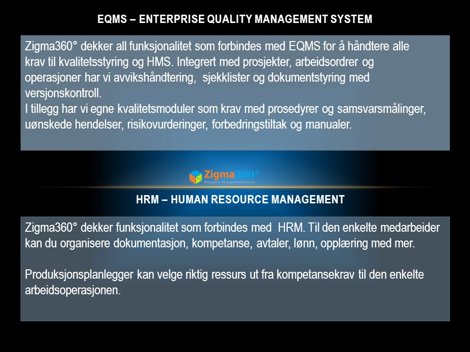 EQMS – Enterprise Quality management system