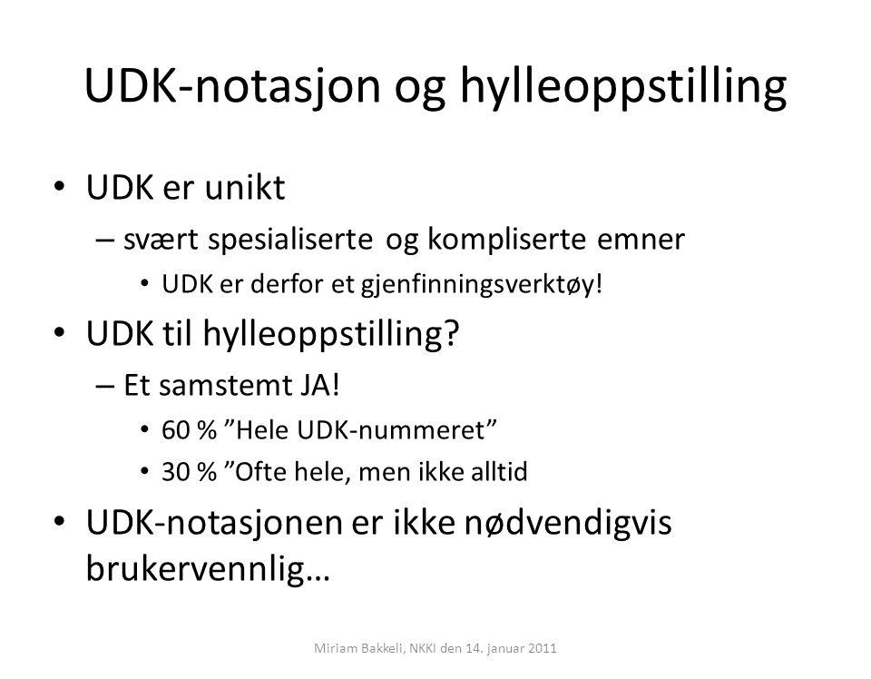 UDK-notasjon og hylleoppstilling
