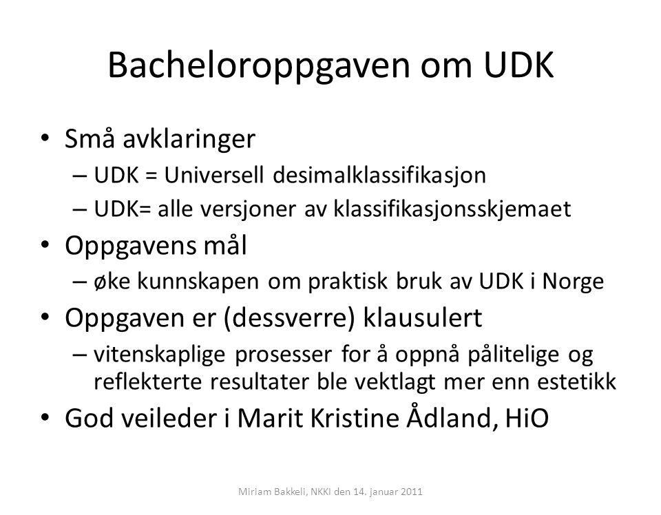 Bacheloroppgaven om UDK