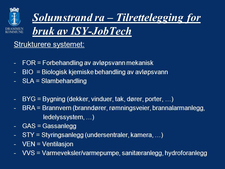 Solumstrand ra – Tilrettelegging for bruk av ISY-JobTech