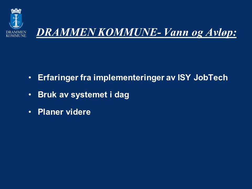 DRAMMEN KOMMUNE- Vann og Avløp: