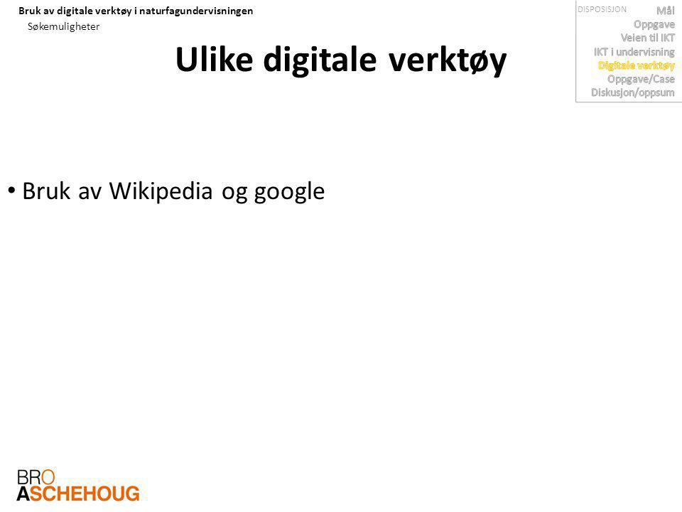 Ulike digitale verktøy
