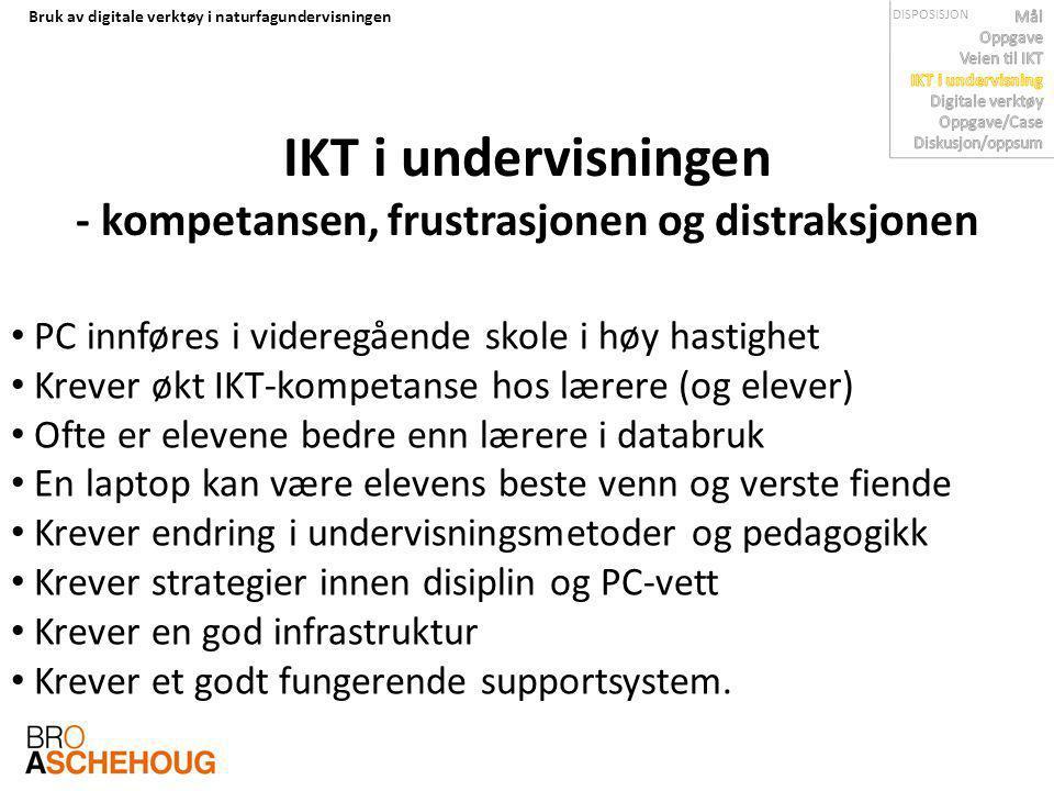 IKT i undervisningen - kompetansen, frustrasjonen og distraksjonen