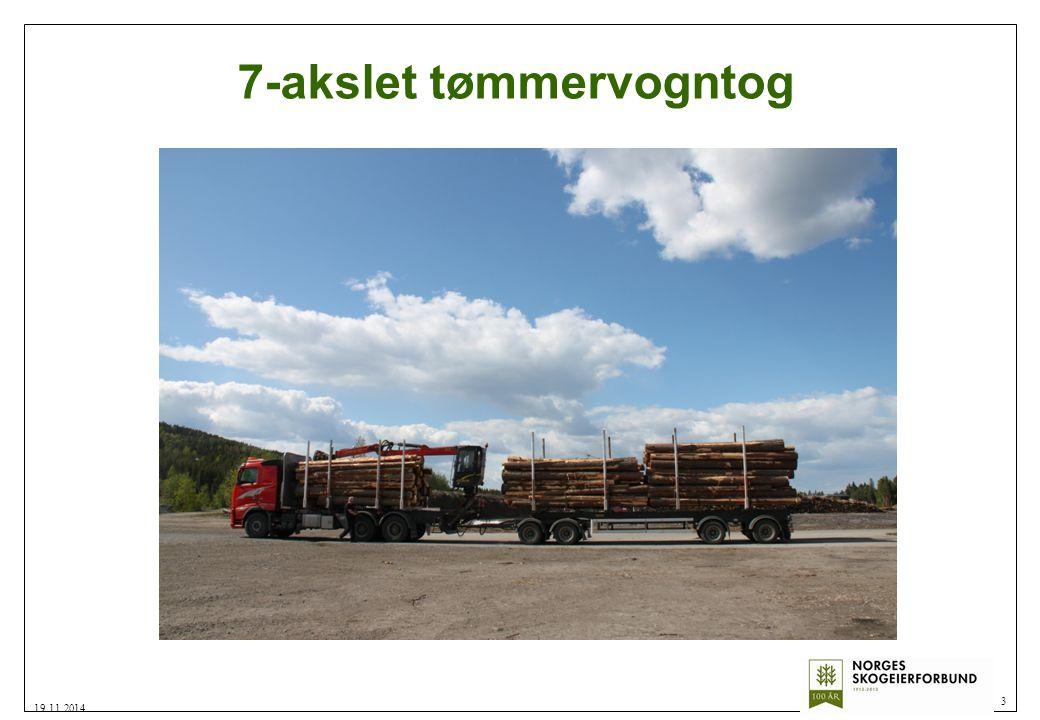 7-akslet tømmervogntog