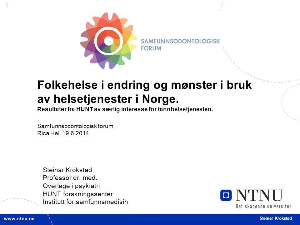 Folkehelse i endring og mønster i bruk av helsetjenester i Norge