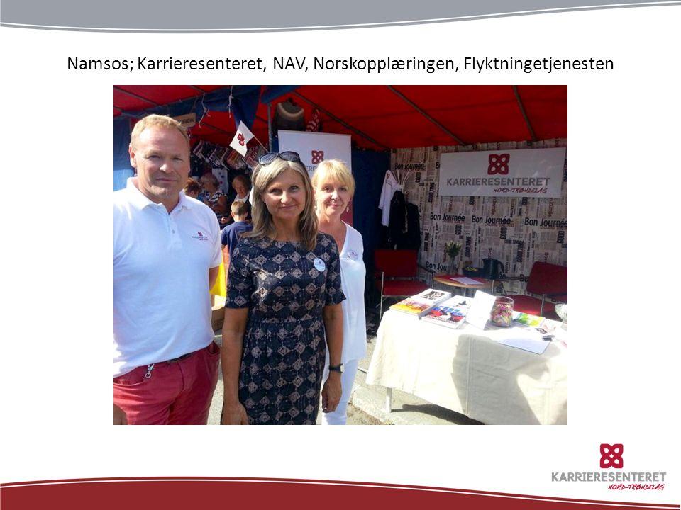 Namsos; Karrieresenteret, NAV, Norskopplæringen, Flyktningetjenesten