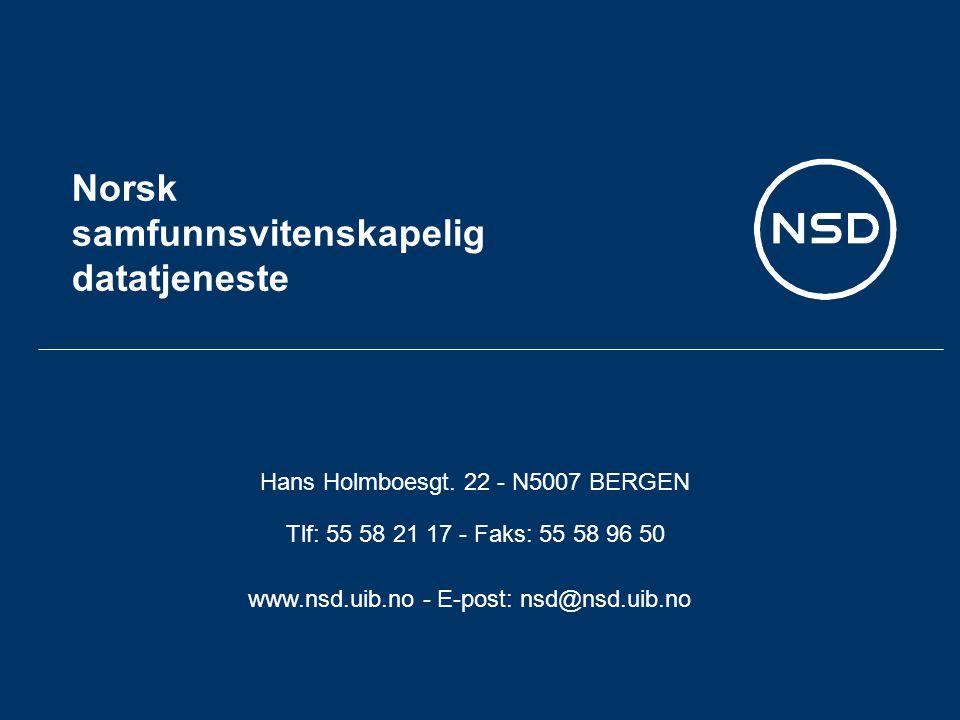 Norsk samfunnsvitenskapelig datatjeneste