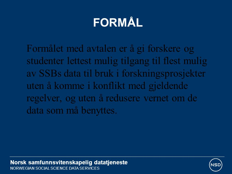 FORMÅL